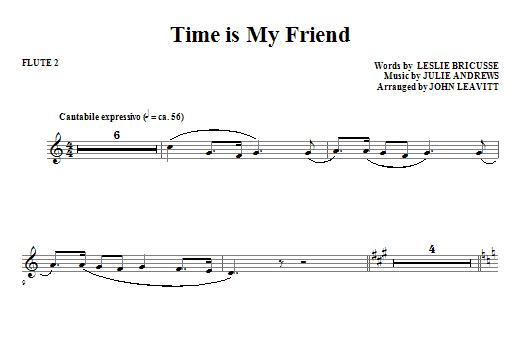 Time Is My Friend - Flute 2 (Choir Instrumental Pak)