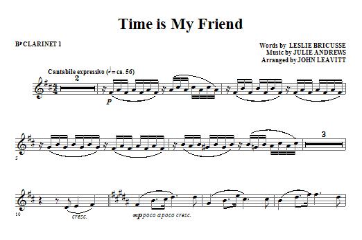 Time Is My Friend - Bb Clarinet 1 (Choir Instrumental Pak)