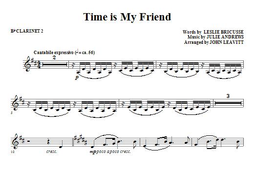 Time Is My Friend - Bb Clarinet 2 (Choir Instrumental Pak)