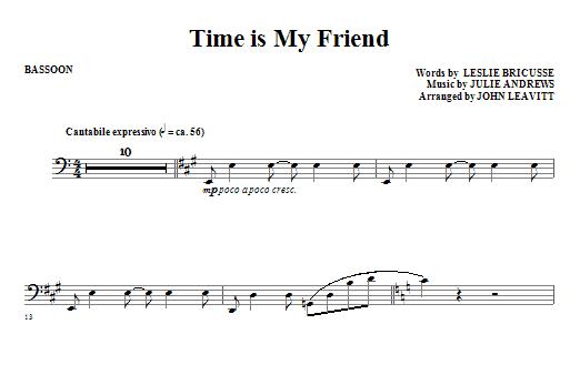 Time Is My Friend - Bassoon (Choir Instrumental Pak)