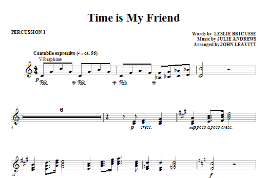 Time Is My Friend - Percussion 1 (Choir Instrumental Pak)