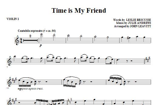 Time Is My Friend - Violin 1 (Choir Instrumental Pak)