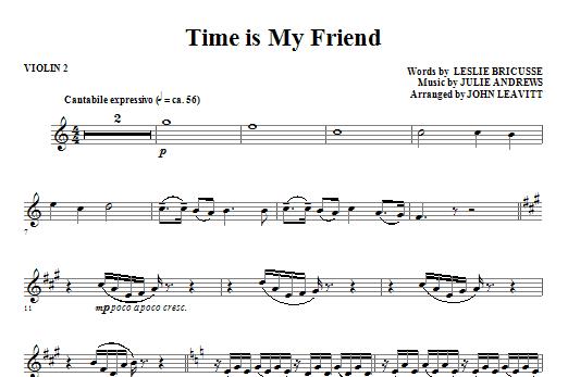 Time Is My Friend - Violin 2 (Choir Instrumental Pak)