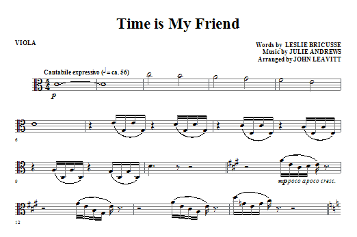 Time Is My Friend - Viola (Choir Instrumental Pak)