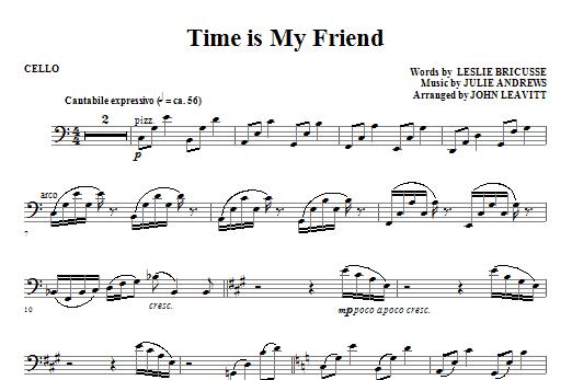 Time Is My Friend - Cello (Choir Instrumental Pak)