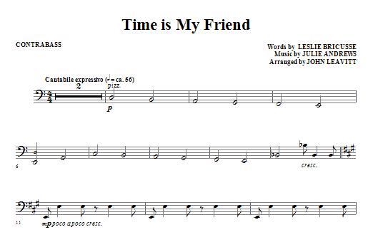 Time Is My Friend - Contrabass (Choir Instrumental Pak)