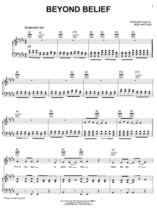 Beyond Belief (Piano, Vocal & Guitar (Right-Hand Melody))