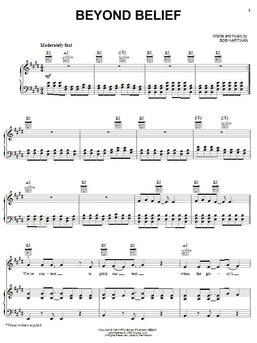 Partition piano Beyond Belief de Petra - Piano Voix Guitare (Mélodie Main Droite)