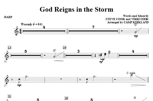 God Reigns In The Storm - Harp Sheet Music