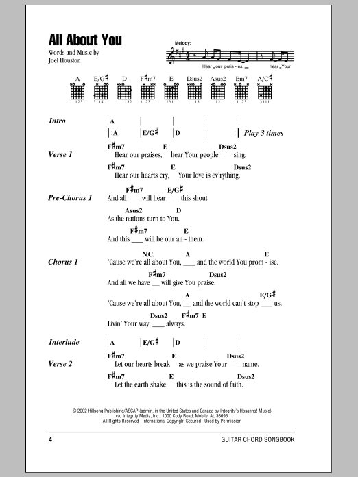 All About You | Sheet Music Direct