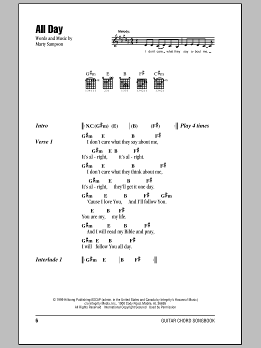 All Day Sheet Music