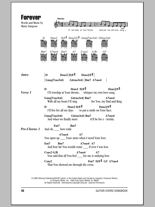 Forever (Guitar Chords/Lyrics)