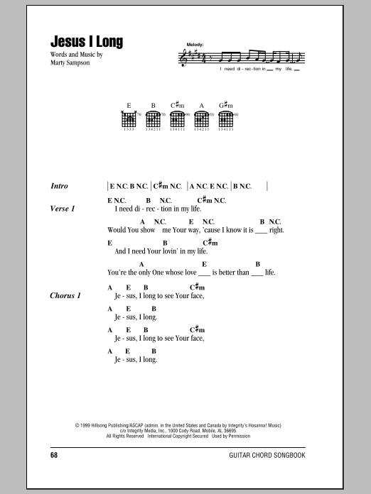 Jesus I Long (Guitar Chords/Lyrics)