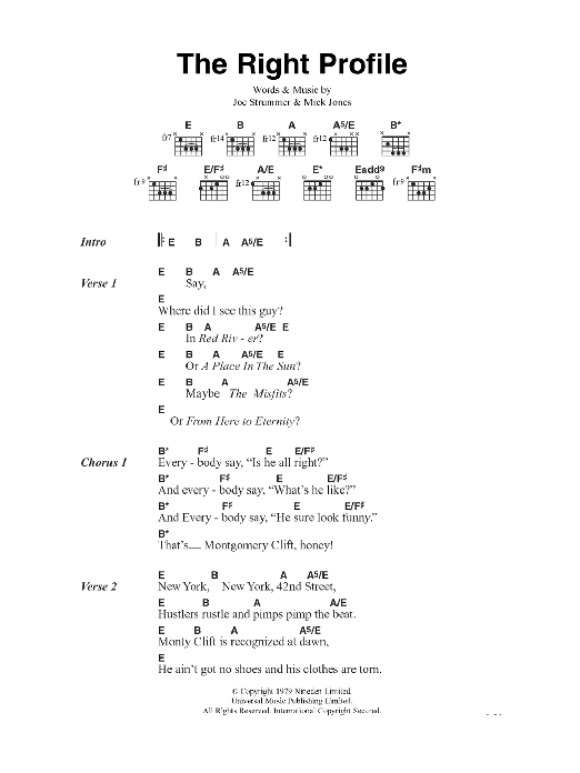 The Right Profile Sheet Music