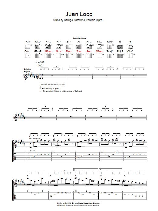 Juan Loco (Guitar Tab)