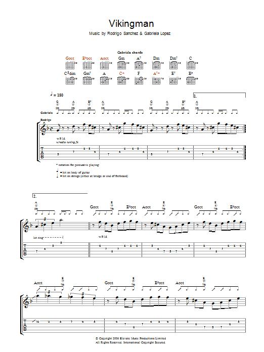 Vikingman (Guitar Tab)
