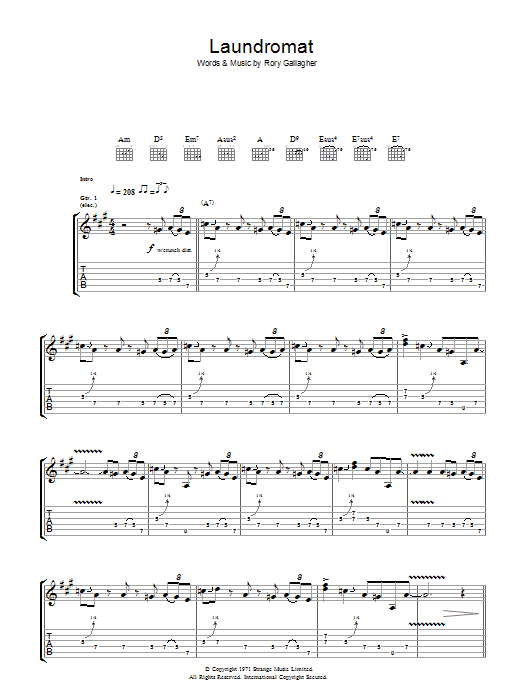 Laundromat (Guitar Tab)