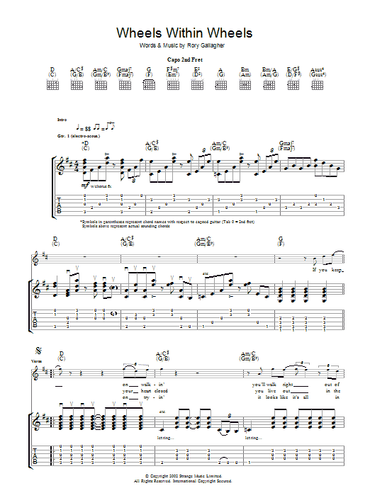Wheels Within Wheels (Guitar Tab)