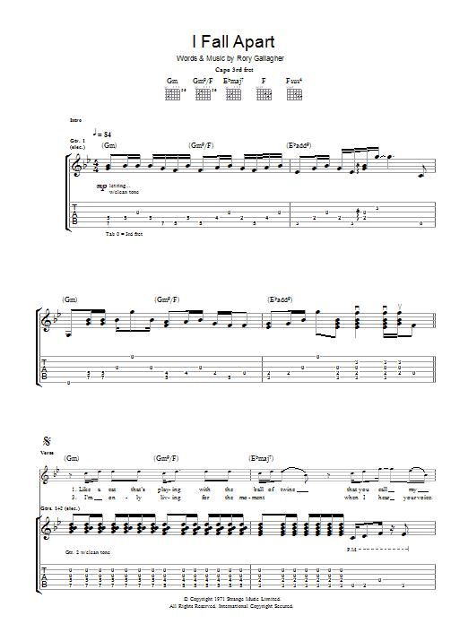 I Fall Apart (Guitar Tab)