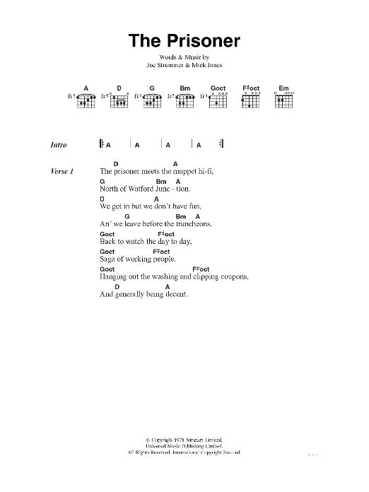 The Prisoner Sheet Music