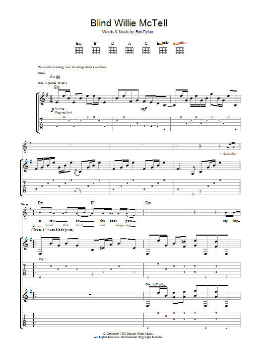 Blind Willie McTell (Guitar Tab)