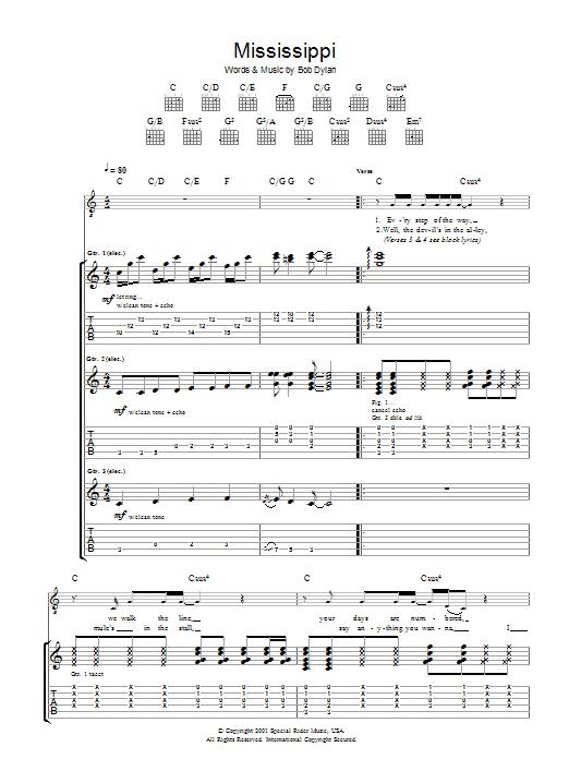 Mississippi Sheet Music