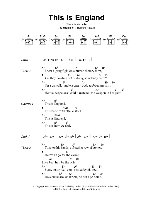 This Is England Sheet Music