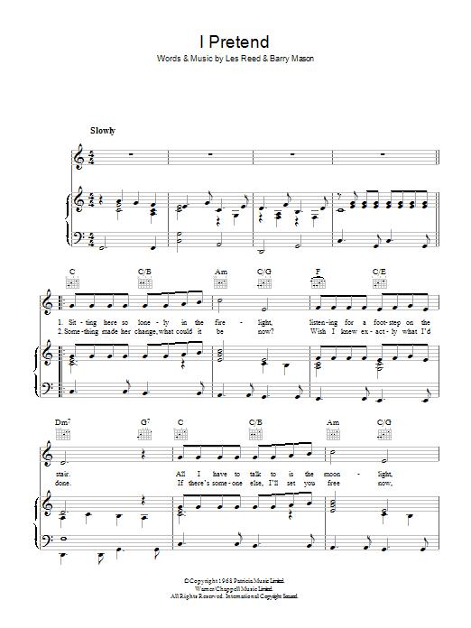I Pretend (Piano, Vocal & Guitar)