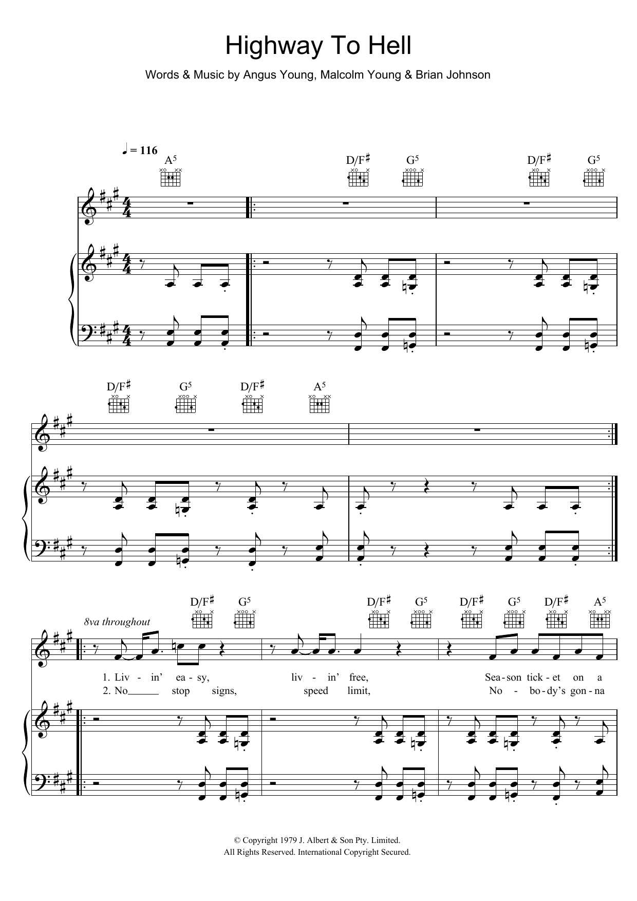 Drum u00bb Drum Tabs Highway To Hell - Music Sheets, Tablature, Chords and Lyrics