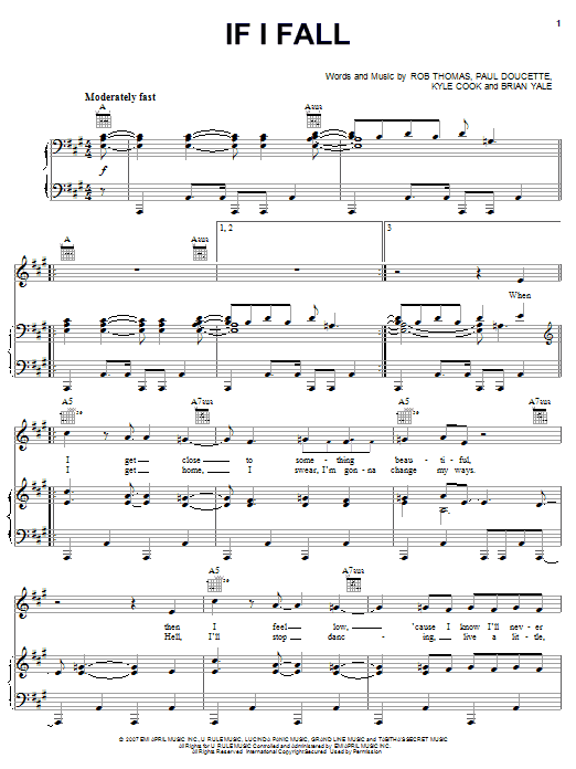 If I Fall Sheet Music
