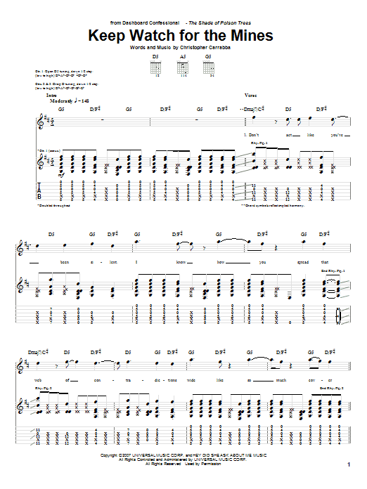Keep Watch For The Mines (Guitar Tab)