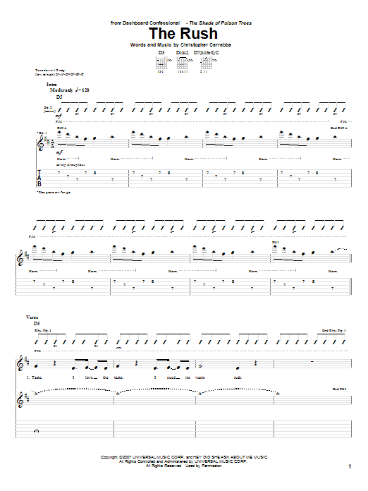 The Rush (Guitar Tab)