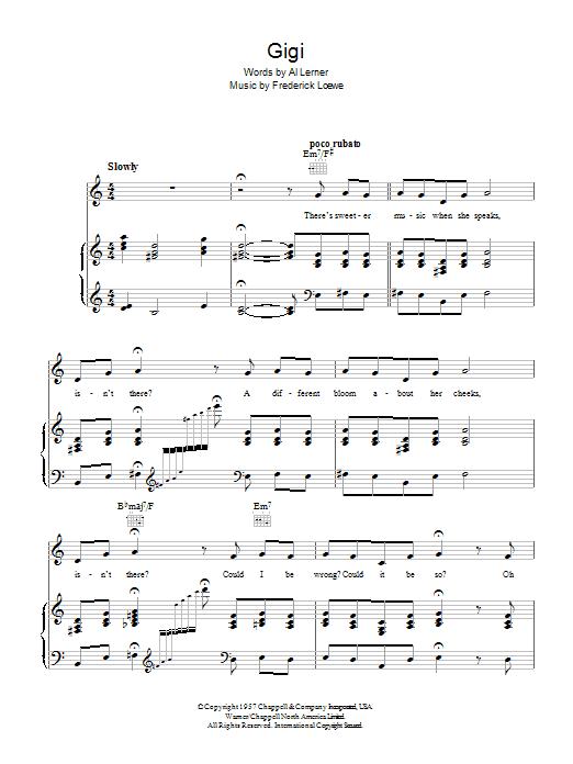 Gigi Sheet Music