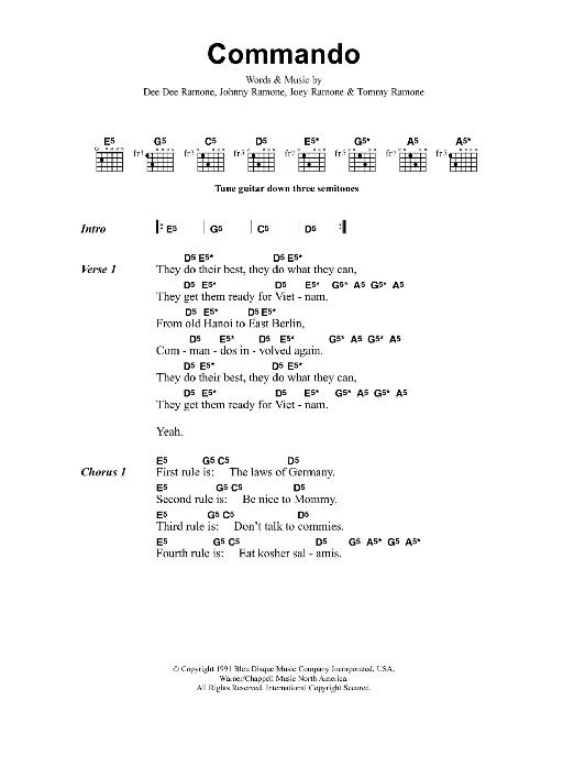 Commando Sheet Music