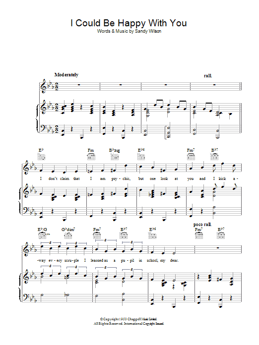 I Could Be Happy With You Sheet Music