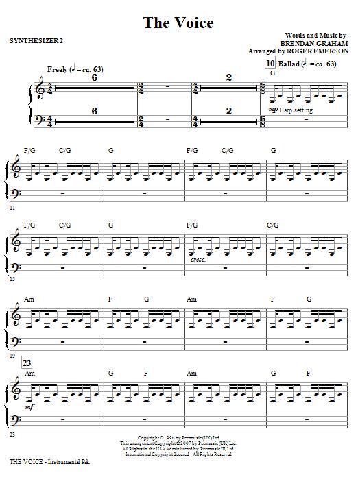 The Voice - Synthesizer II (Choir Instrumental Pak)
