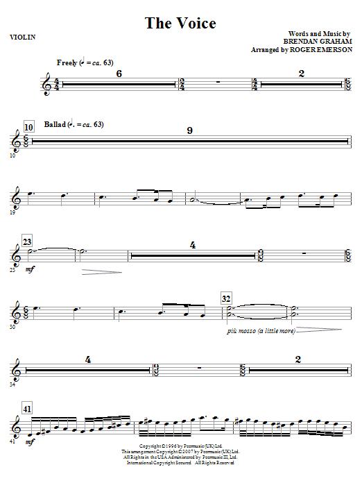 The Voice - Violin (Choir Instrumental Pak)