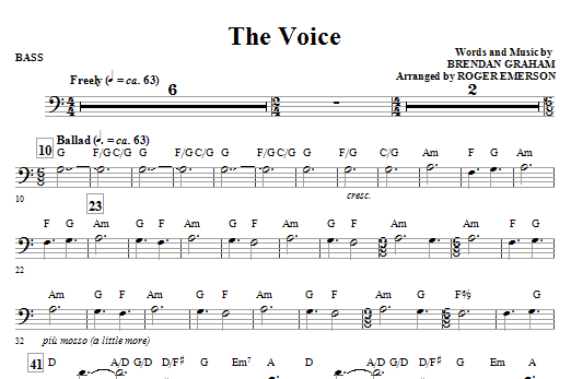 The Voice - Bass (Choir Instrumental Pak)