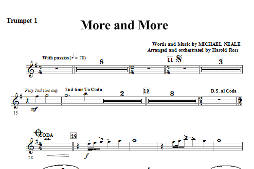 More And More - Trumpet 1 Sheet Music