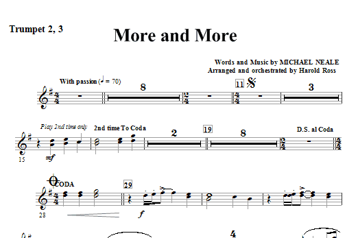 More And More - Bb Trumpet 2,3 Sheet Music