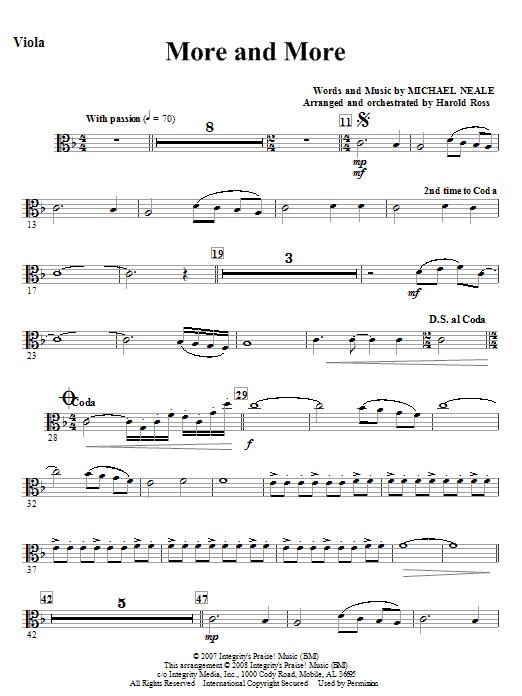 More And More - Viola Sheet Music