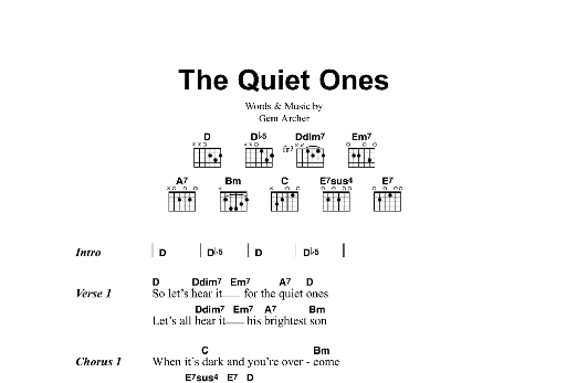 The Quiet Ones Sheet Music