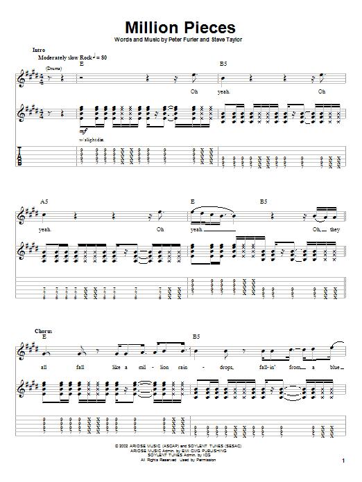 Million Pieces (Guitar Tab (Single Guitar))