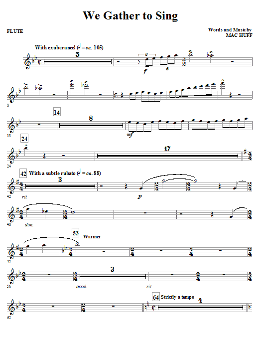 We Gather To Sing - Flute (Choir Instrumental Pak)