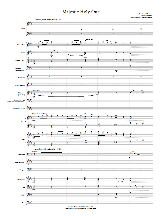 Majestic Holy One (COMPLETE) sheet music for orchestra/band (Orchestra) by Cindy Berry. Score Image Preview.