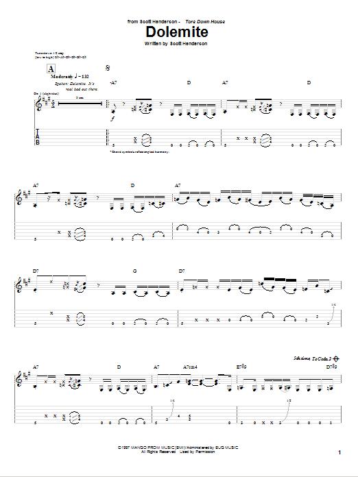Dolemite Sheet Music