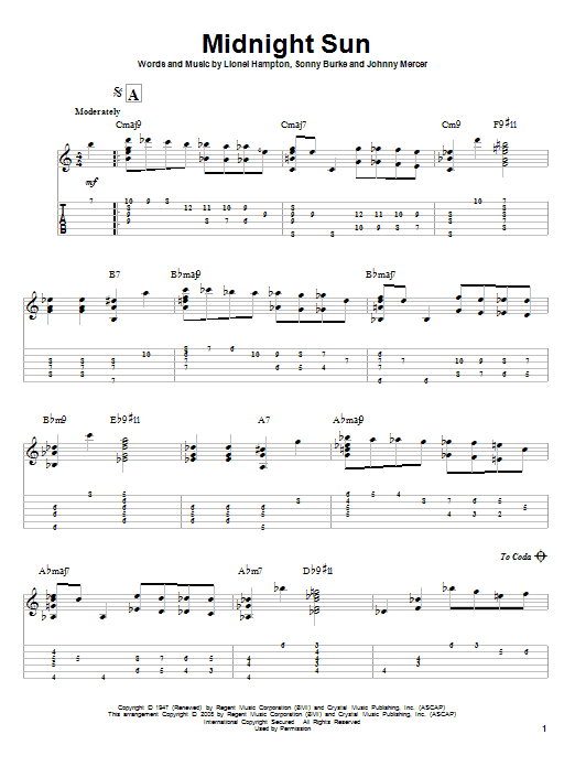 Midnight Sun (Guitar Tab)