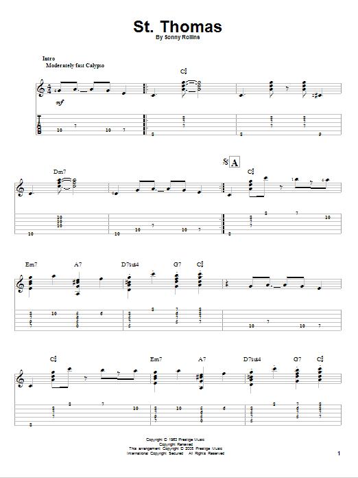 St. Thomas Sheet Music