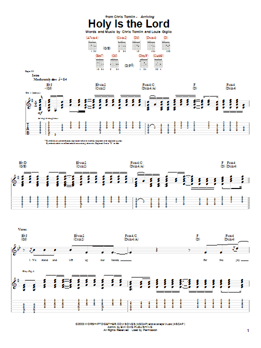 Holy Is The Lord (Guitar Tab)
