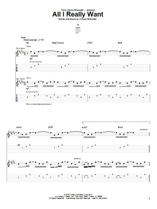 All I Really Want (Guitar Tab)